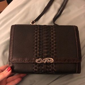 Brighton quilted leather long shoulder bag